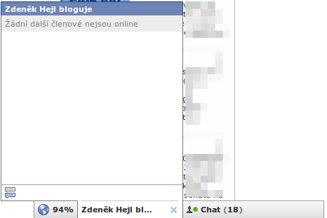 Facebook skupiny - chat