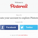 Pinterest registrace