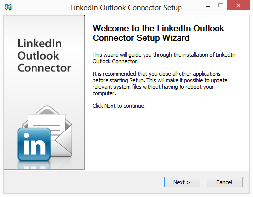 Instalace LinkedIn Outlook Connector