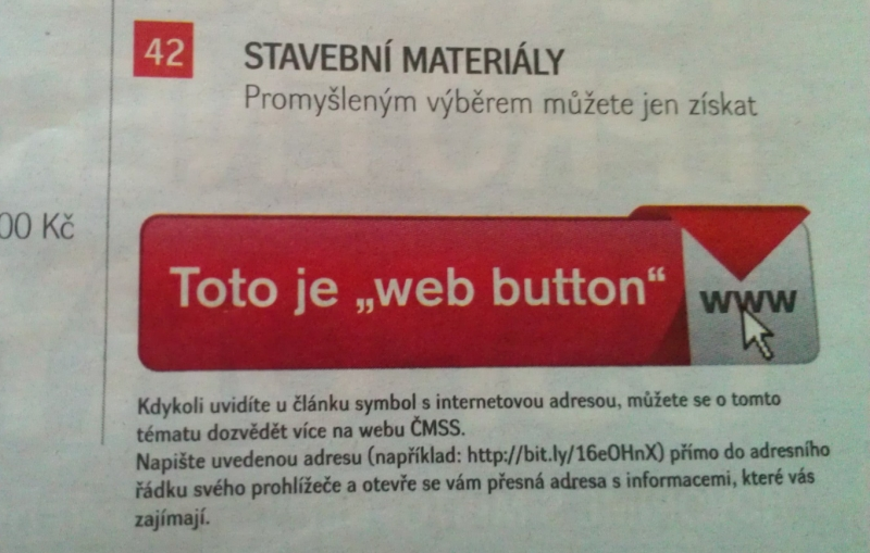Časopis Liška: Web button